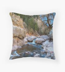 Colorado South St Vrain Canyon  Throw Pillow