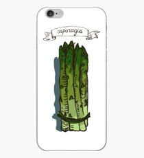watercolor hand drawn vintage illustration of asparagus iPhone Case