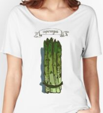 watercolor hand drawn vintage illustration of asparagus Women's Relaxed Fit T-Shirt