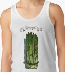 watercolor hand drawn vintage illustration of asparagus Tank Top