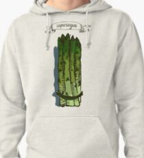 watercolor hand drawn vintage illustration of asparagus Pullover Hoodie
