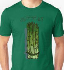 watercolor hand drawn vintage illustration of asparagus Unisex T-Shirt