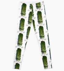 watercolor hand drawn vintage illustration of asparagus Leggings