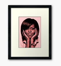 Michelle Obama - Celebrity Art Framed Print