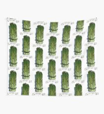 watercolor hand drawn vintage illustration of asparagus Wall Tapestry