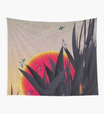 Red Heat (with Dragonflies) Wall Tapestry