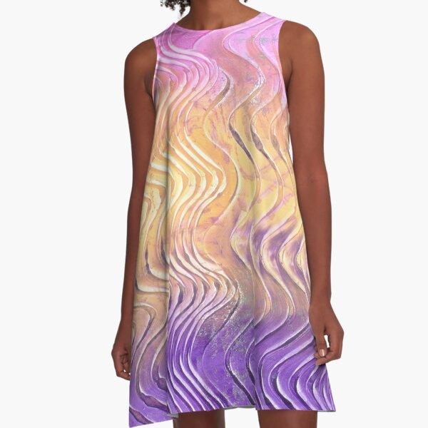 Easter Egg Wave A-Line Dress