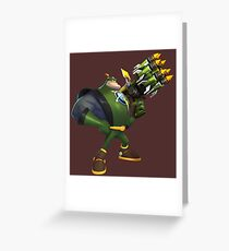 Captain Qwark Greeting Card