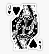 queen of black hearts Sticker