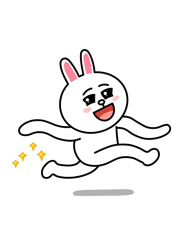 Quot Line Sticker Cony Quot Stickers By Chatne Redbubble