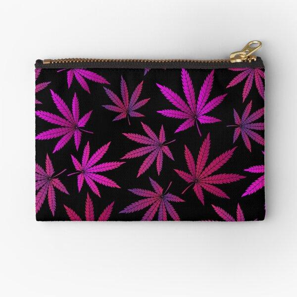 Lilac marijuana Zipper Pouch