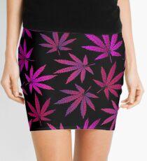 Lilac marijuana Mini Skirt