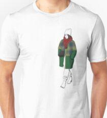 Girl in plaid coat Unisex T-Shirt