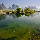 Yu Long River, YangZhuo, Guangxi, China by Daniel H Chui