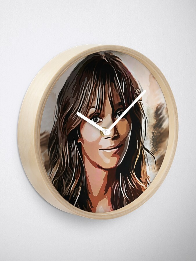 Alternate view of Halle Berry - portrait Clock