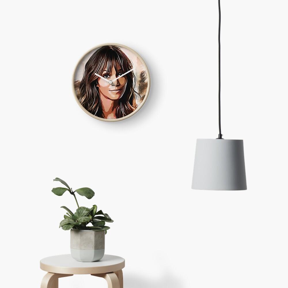 Halle Berry - portrait Clock