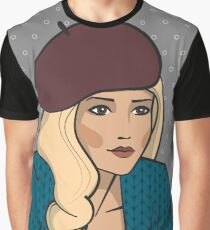 Blond girl in beret Graphic T-Shirt
