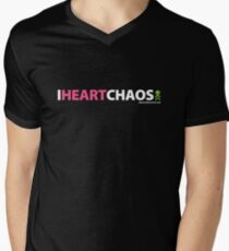 I Heart Chaos Mens V-Neck T-Shirt
