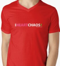 I Heart Chaos Mens V-Neck T-Shirt