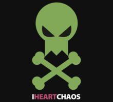 I Heart Chaos Skull Tee