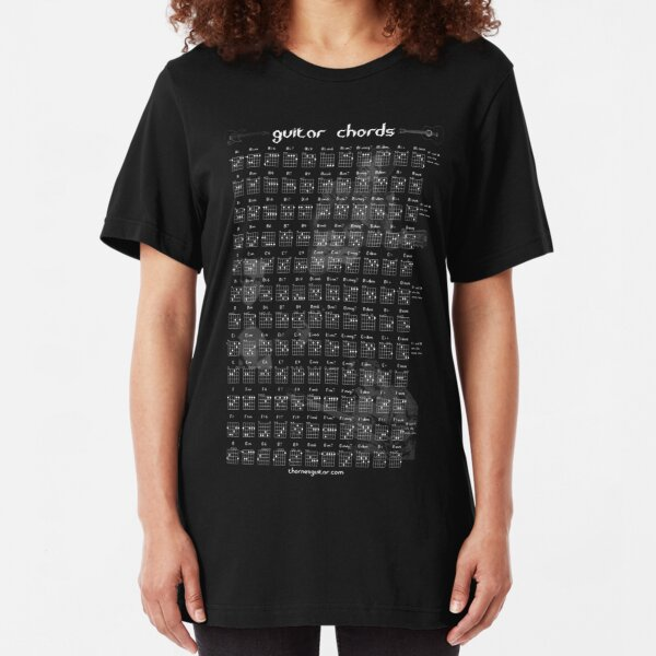 Guitar Chord Chart Slim Fit T-Shirt