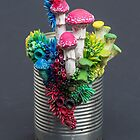 Taking Sides, Mushrooms and Natures Sculptures on a Tin Can by Stephanie KILGAST