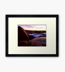 Water on Rock Framed Print