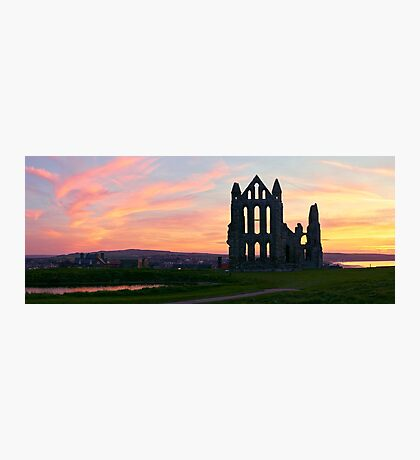 Whitby Sunset Silhouettes Photographic Print