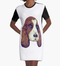 Basset Hound Graphic T-Shirt Dress