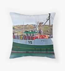""" A Netter waiting for the Tide"" Throw Pillow"