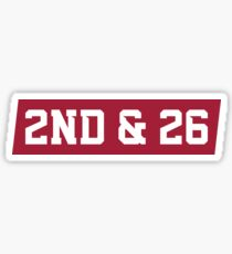 2nd And 26 - Red Sticker