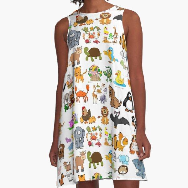 Animals A-Line Dress