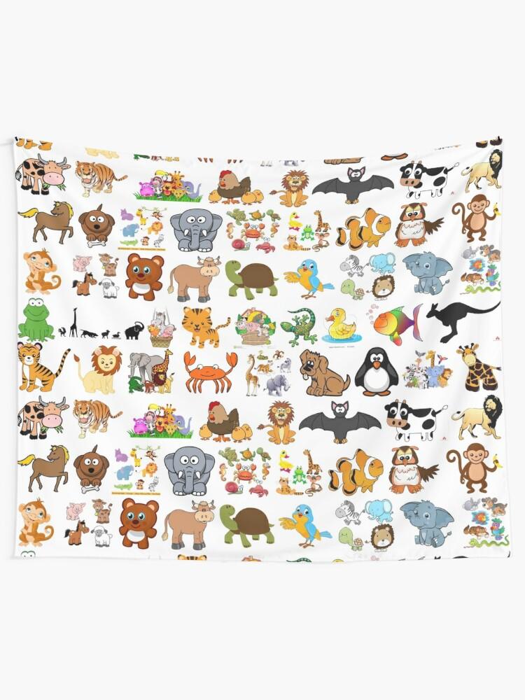 Alternate view of Animals Tapestry