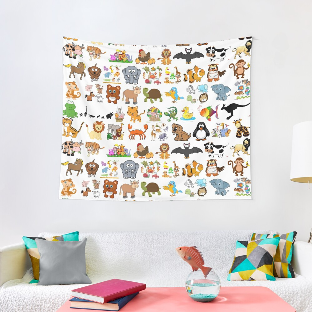 Animals Tapestry