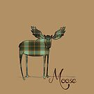 Moose in Plaid by Brittany Cofer