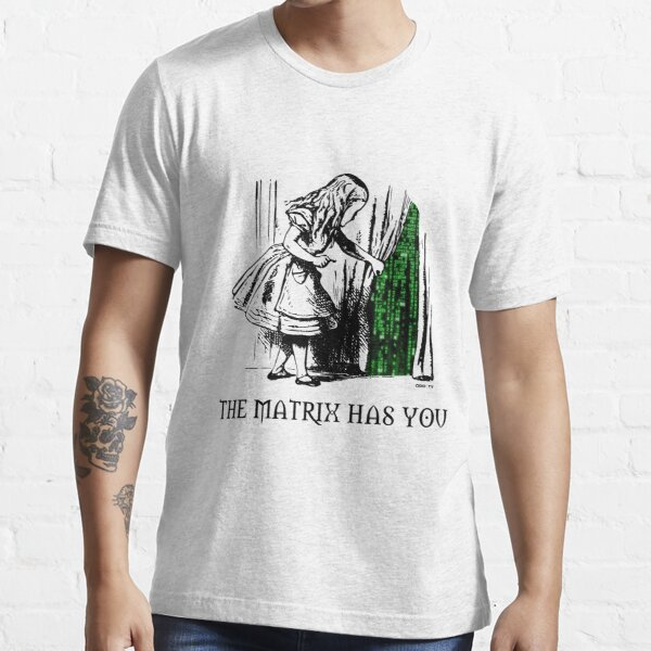 Alice in the Wonderland Matrix Rabbit Hole  Essential T-Shirt