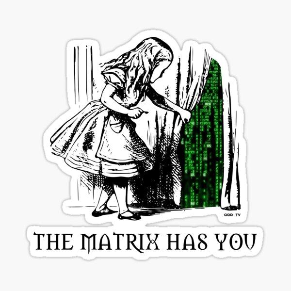 Alice in the Wonderland Matrix Rabbit Hole  Sticker