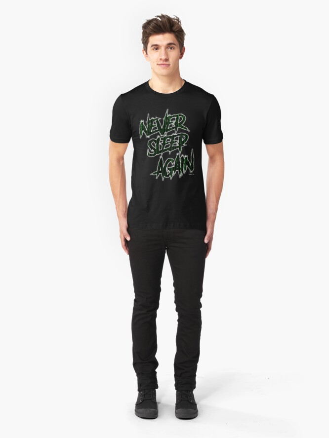 Alternate view of ODD TV - Never Sleep Again Slim Fit T-Shirt
