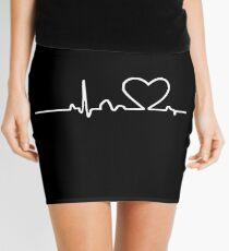In love heartbeat valentine's day roses heart Mini Skirt