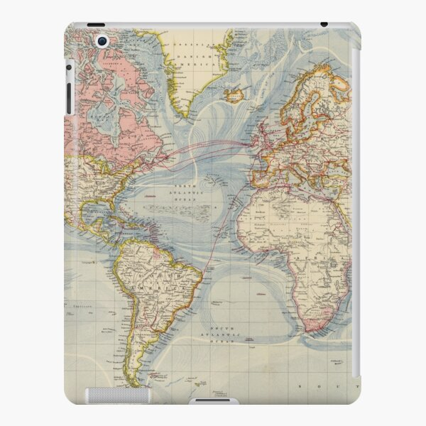 Vintage Map of The World (1883) iPad Snap Case