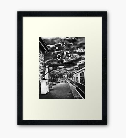 The Train Now Standing At Platform...........  Framed Print
