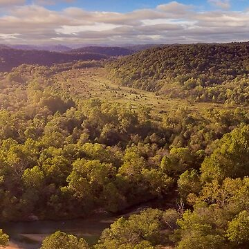 Aerial landscape of the Current River by nscphotography