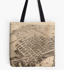 Vintage Pictorial Map of East Cambridge MA (1879) Tote Bag