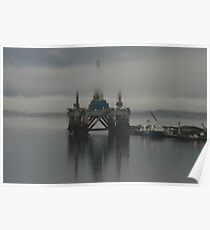Cromarty Firth In The Mist Poster