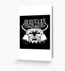 Transformers - Unicron (Danzig) Greeting Card
