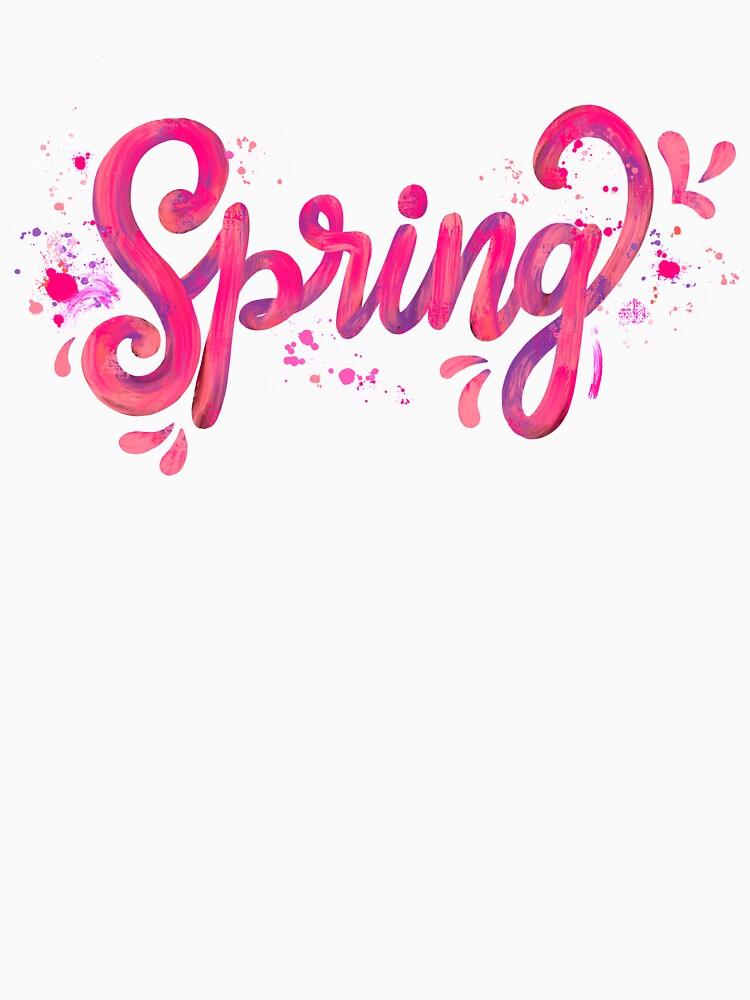 Spring - Pink hand written calligraphy by mirunasfia