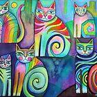 Six Curious Cats by Karin Zeller