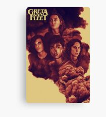 Greta Van Fleet Full Size Poster 2 Canvas Print