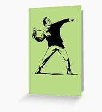 Shoe Thrower BP2 Greeting Card