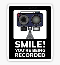 Smile You're Being Recorded Sticker